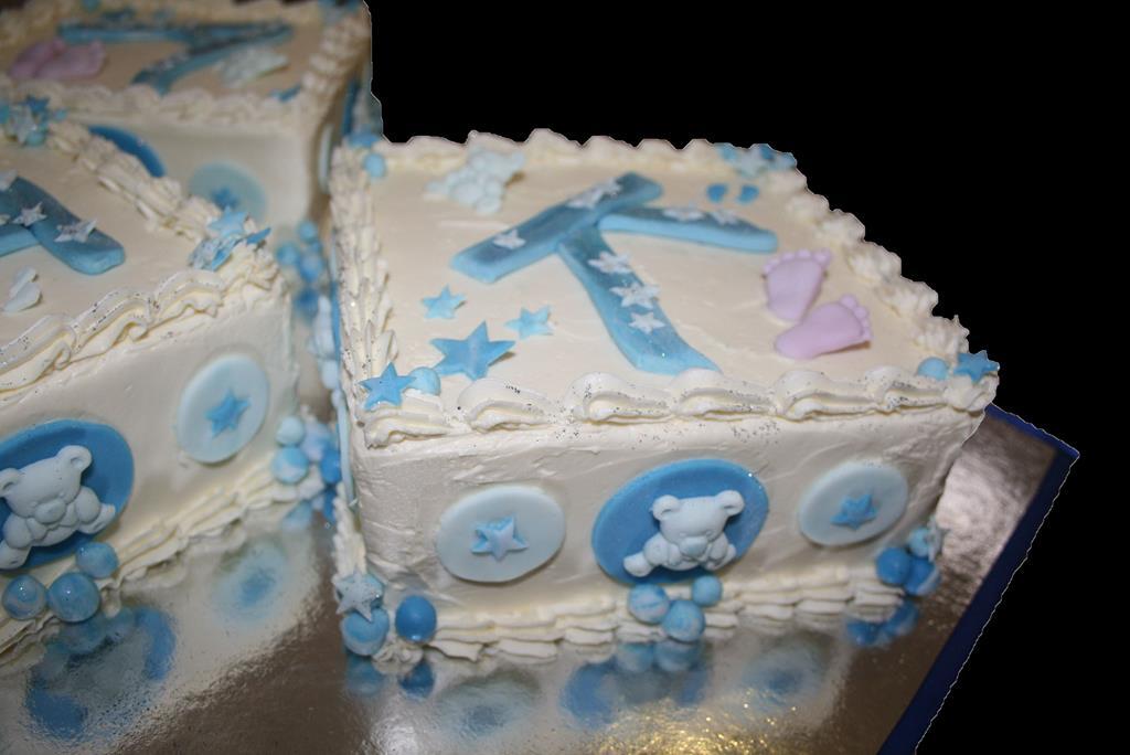 Initals Cake Closeup