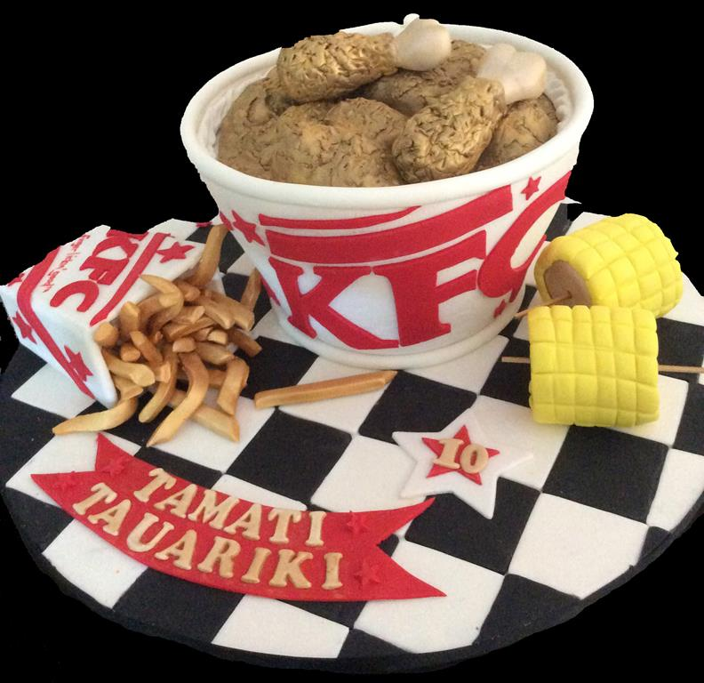 10th KFC Bucket Childrens Birthday Cake