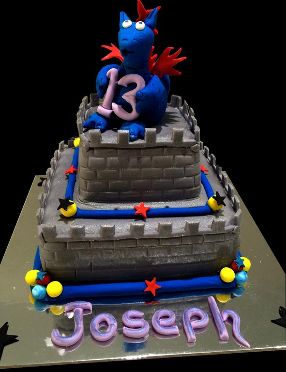 13th Birthday Dragon Childrens Birthday Cake
