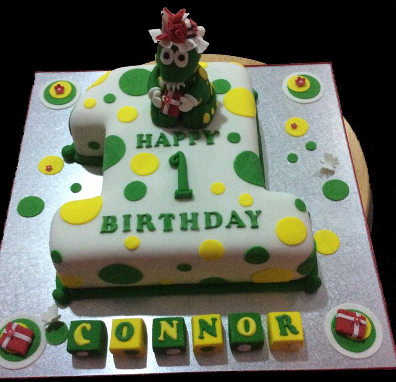 1st Birthday Dinosaur Childrens Birthday Cake