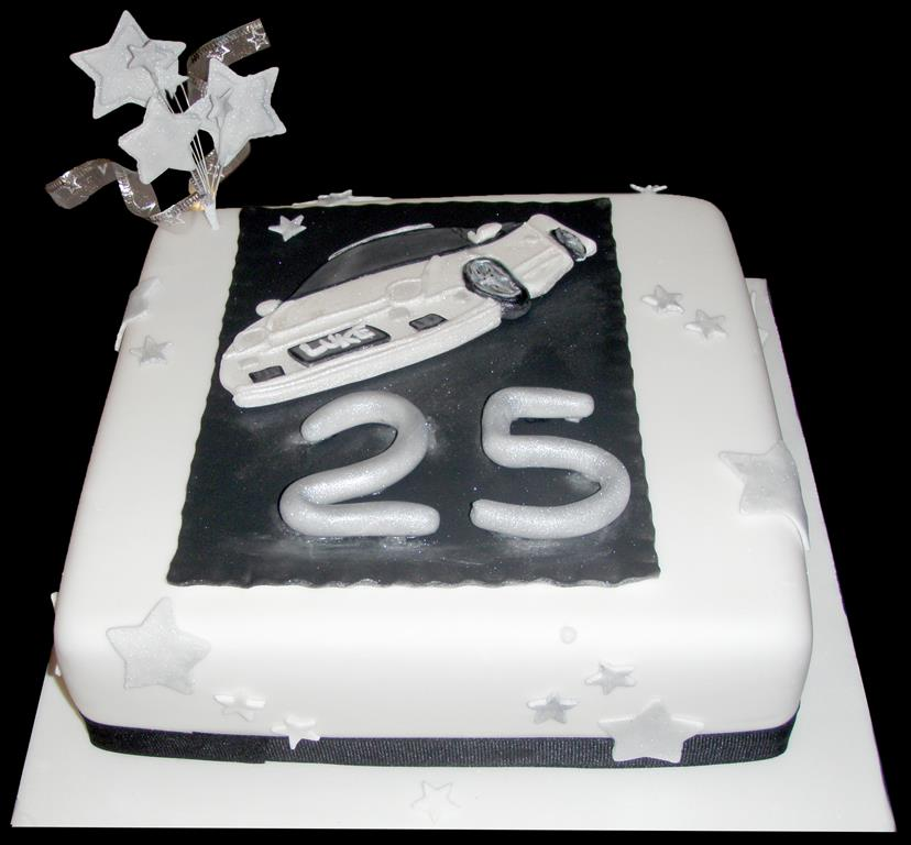 25th Car Birthday Cake