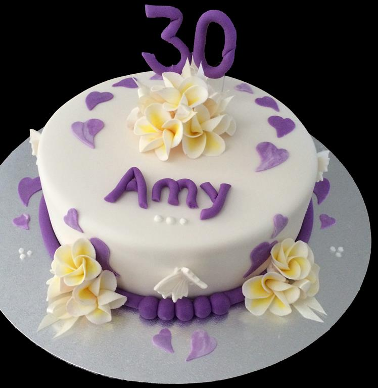 30th Two Tier Birthday Cake
