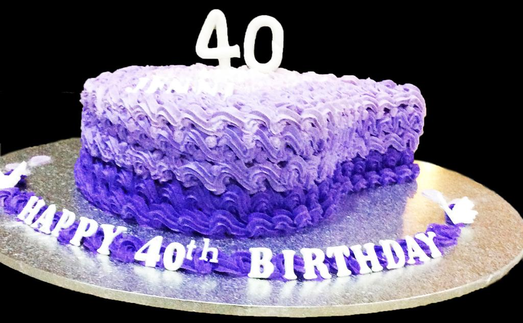 40th Buttercream Birthday Cake