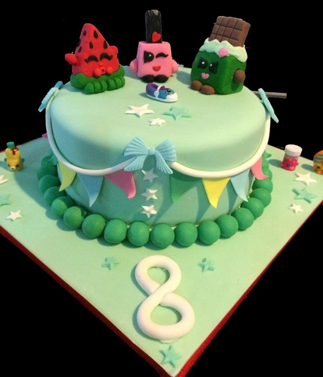 8th Shopkins Childrens Birthday Cake