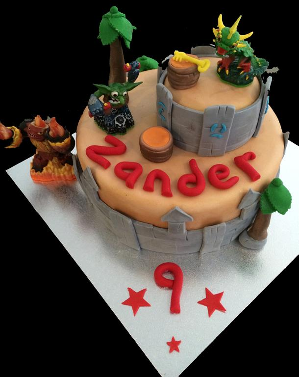 9th Birthday Monsters Childrens Cake