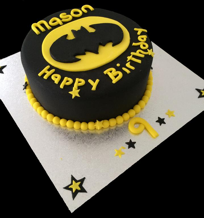 9th Childrens Birthday Batman Cake