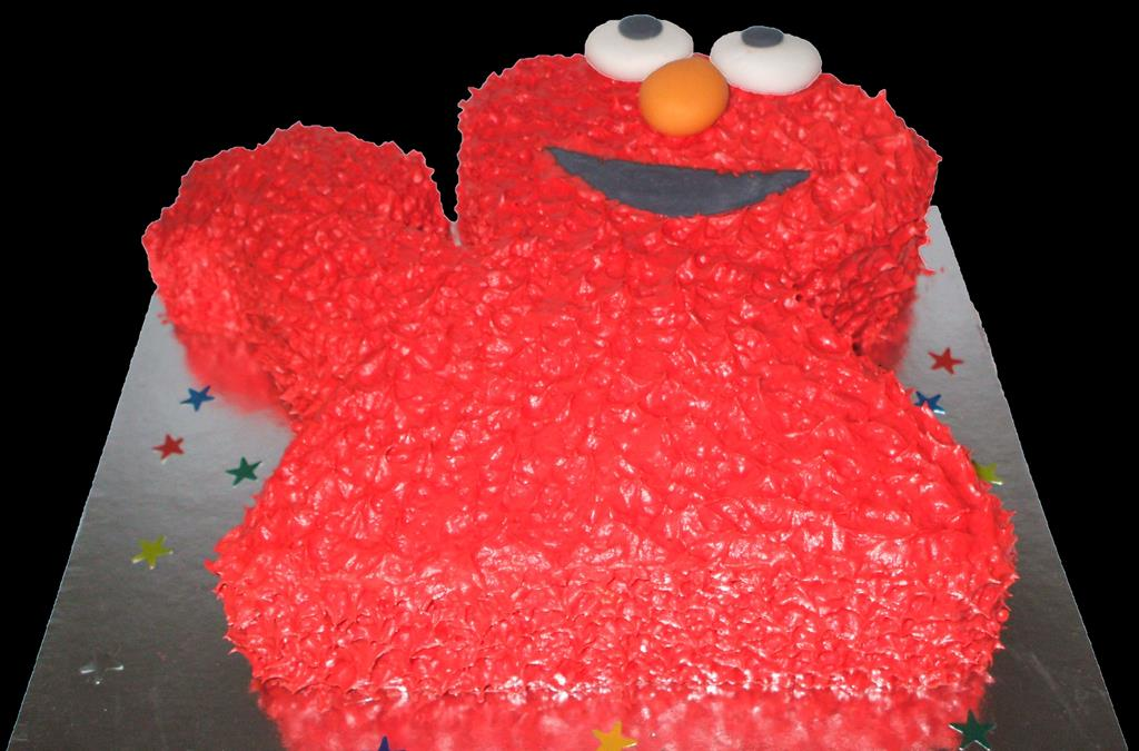 Elmo Buttercream Birthday Cake