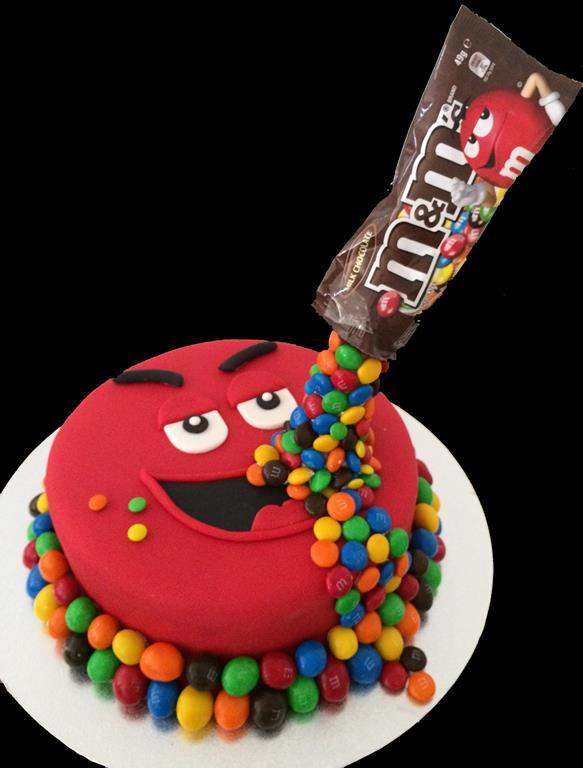 MnM Birthday Cake