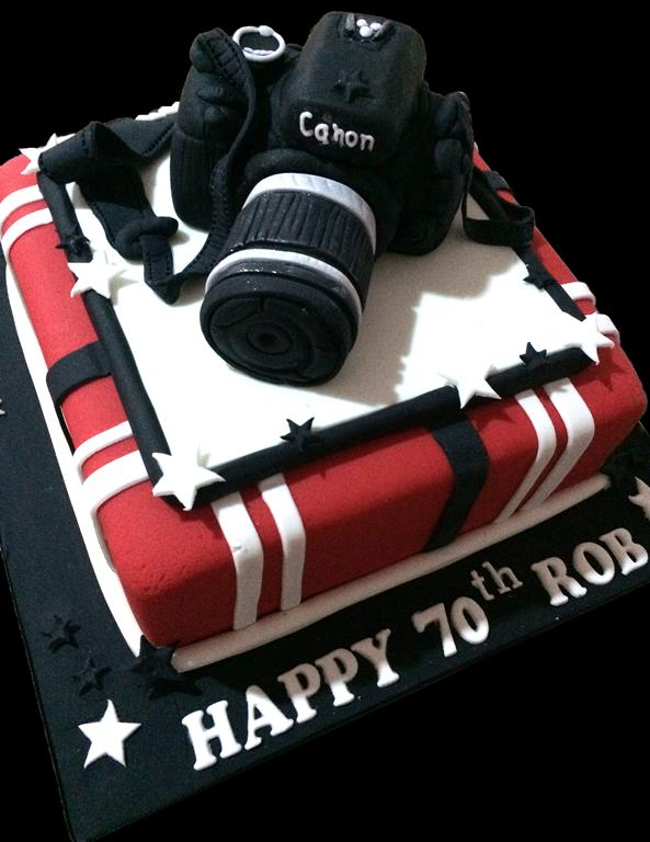 Camera 70th Birthday Cake