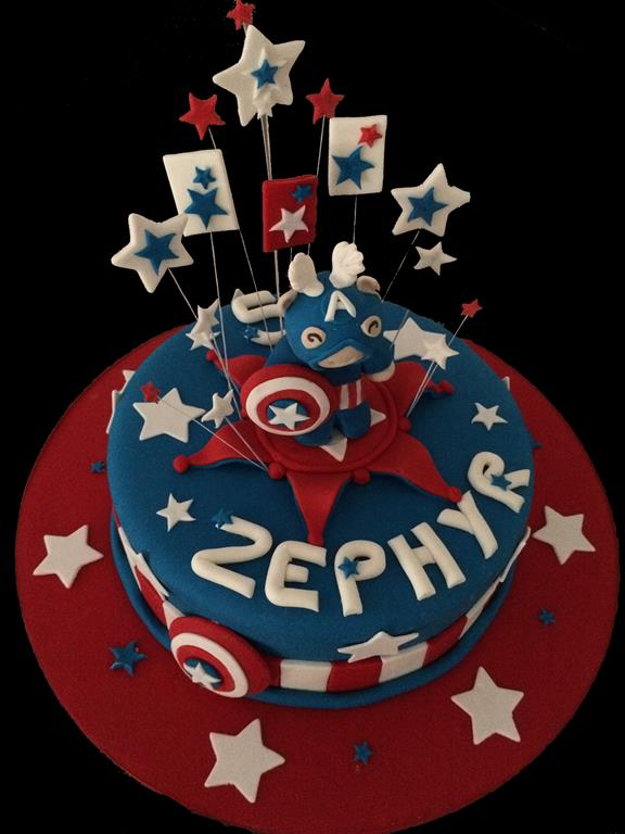 Captain America Childrens Birthday Cake