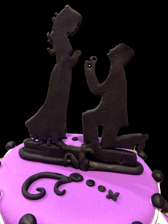 Couple Black and Purple Cake