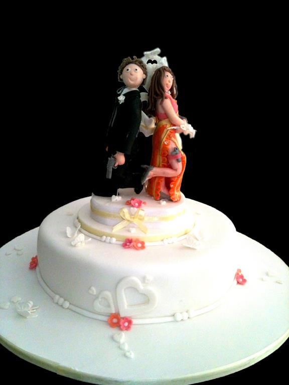 Couple Topper Wedding Cake