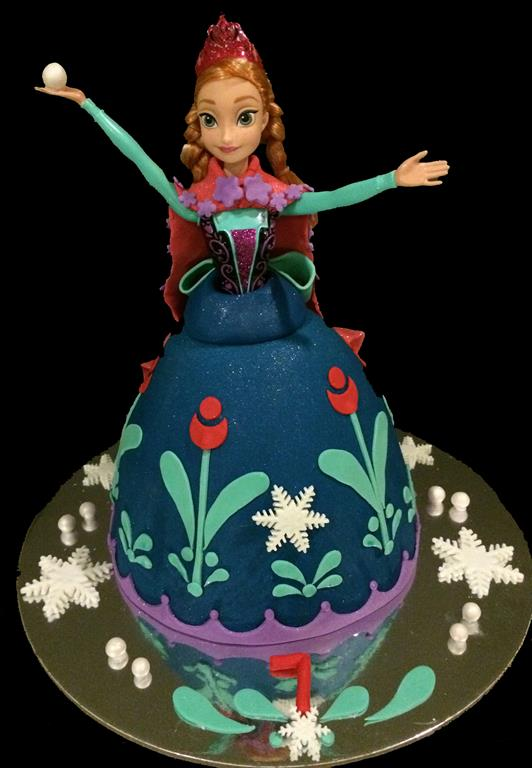 Doll 7th Childrens Birthday Cake