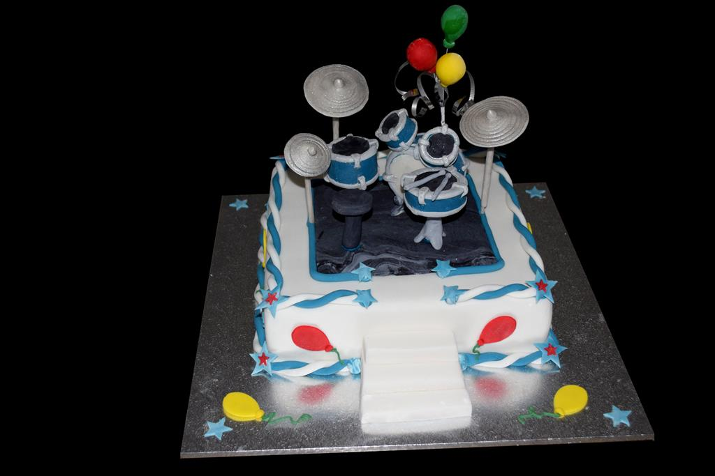 Drum Kit Birthdya Cake Brisbane
