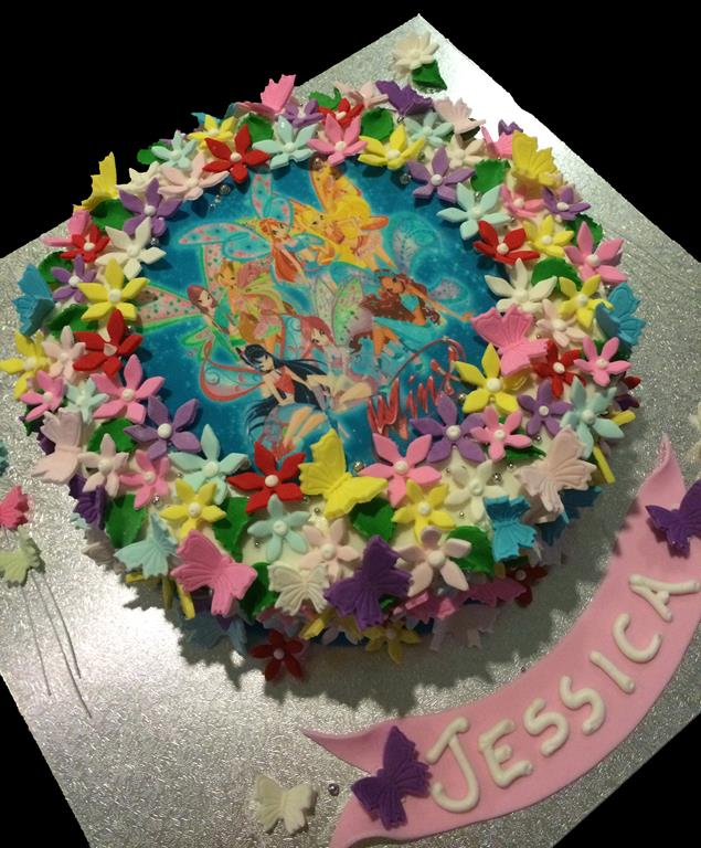 Fairy Childrens Birthday Cake