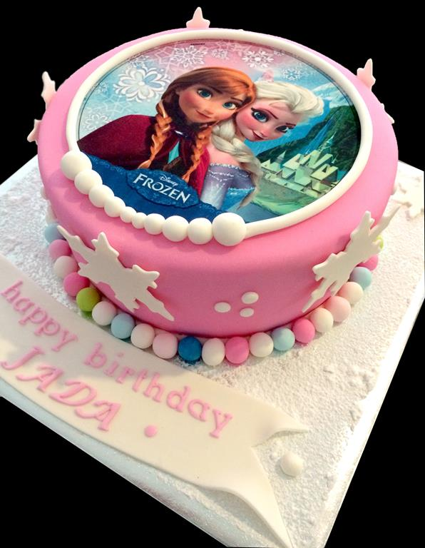 Frozen Childrens Birthday Cake