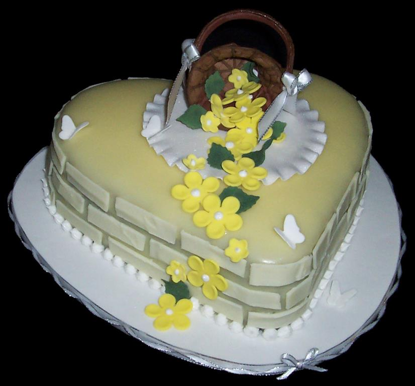 Heart and Basket Birthday Cake