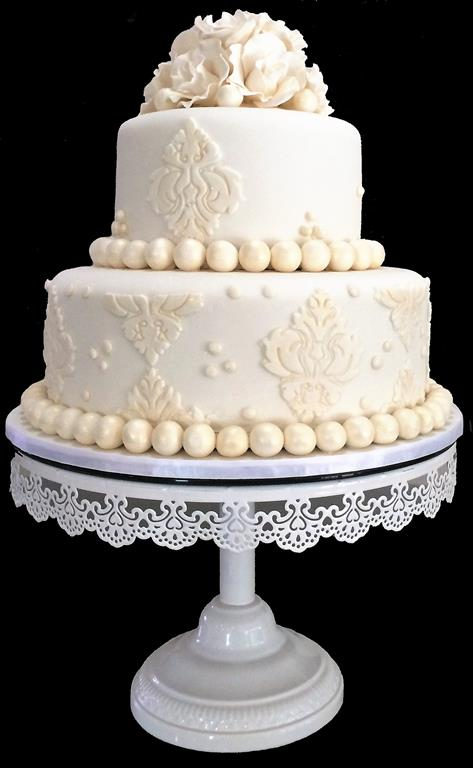 Ivory 2 Tier Wedding Cake