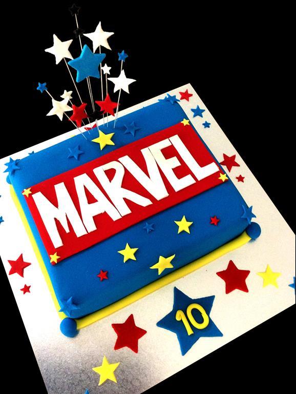 Marvel 10th Childrens Birthday Cake