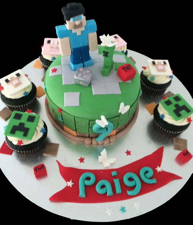 Minecraft Childrens Birthday Cake