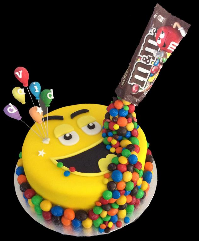 MnM Childrens Birthday Cake