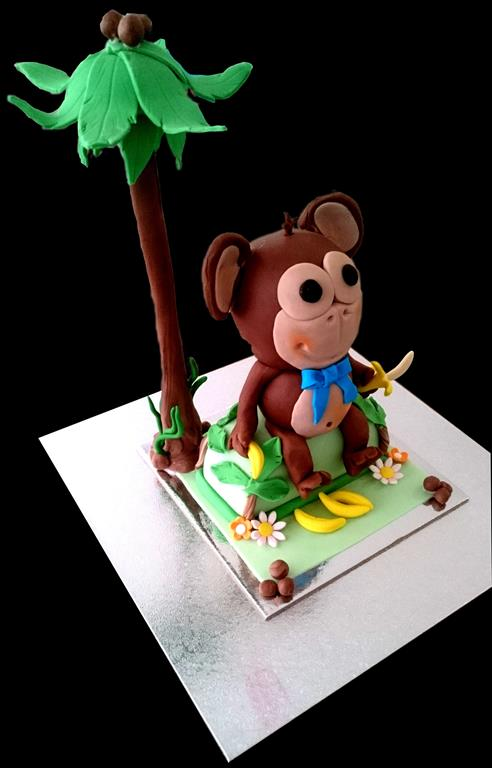 Monkey Childrens Birthday Cake in Brisbane