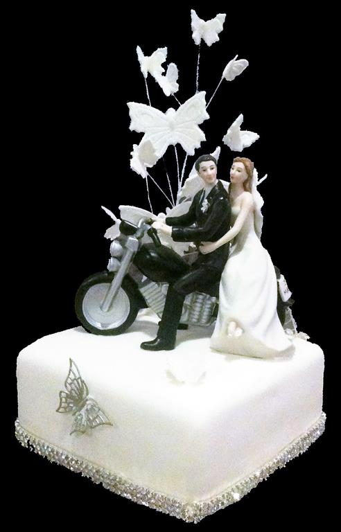 Motorbike Wedding Brisbane Cake