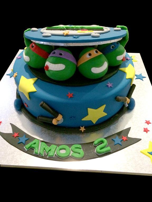 Miraculous Ninja Turtle Birthday Cake Antonias Cakes Wedding Birthday Funny Birthday Cards Online Alyptdamsfinfo