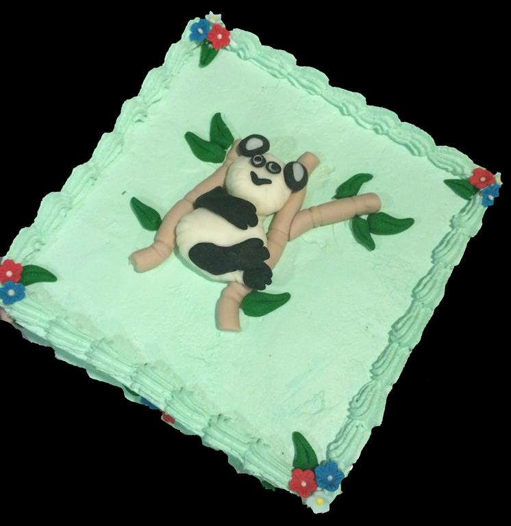 Panda in Tree Childrens Birthday Cake