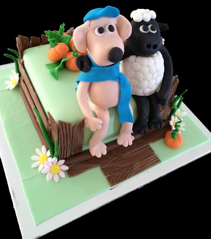 Shaun the Sheep Childrens Birthday Cake