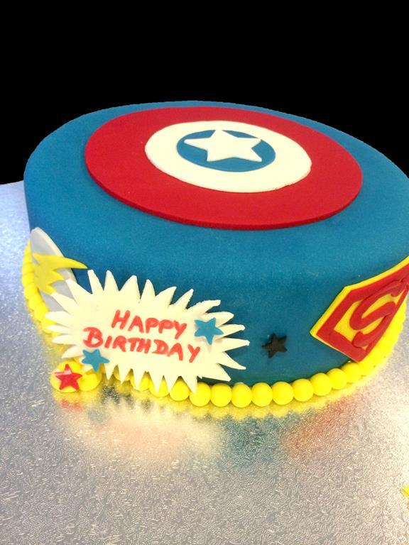 Super Hero Birthday Cake Captain America