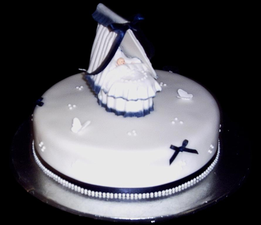 Baby Cot Christening Cake SHOW IMAGE
