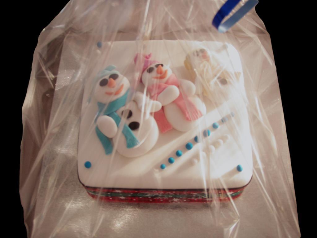 Christmas Snowmen Cake