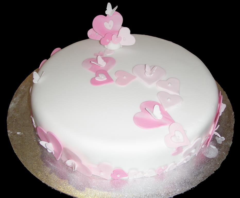 Pink Love Hearts Cake