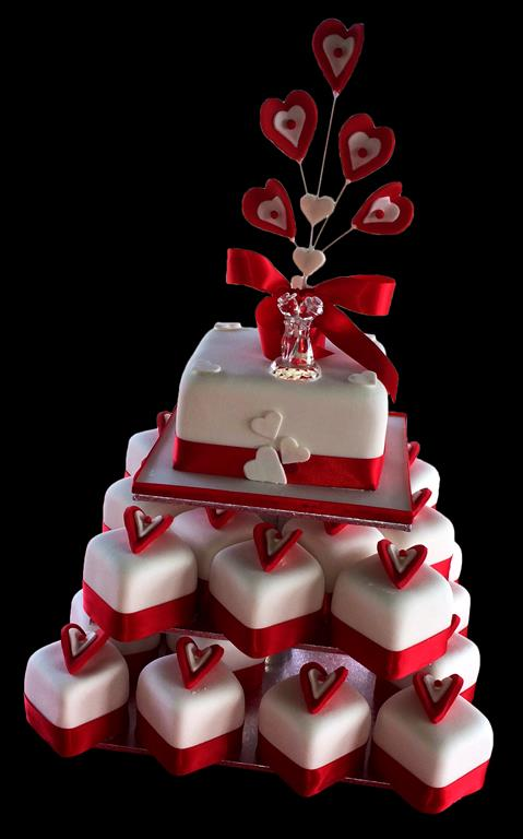 Red Hearts Cakes and Cupcakes
