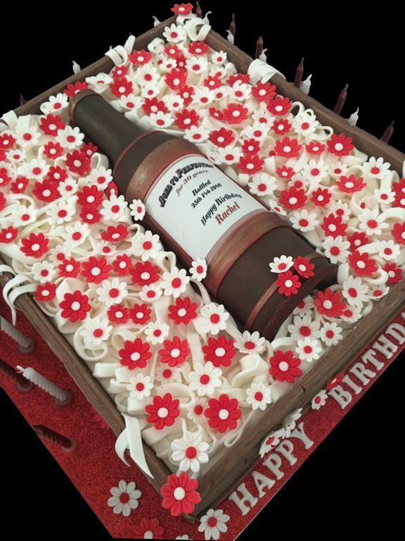 Red Wine Bottle Birthday Cake Antonias Cakes Wedding Birthday
